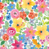 """""""Pastel"""" - 5 feuilles de papier de soie avec des fleurs"""