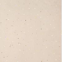 """""""Diamant"""" - 5 feuilles de papier de soie beige et paillettes or"""