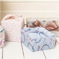 """Furoshiki"" - Tissu pour paquet cadeau bleu"