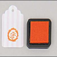 """DIY"" - Petit encreur orange pour tampon"