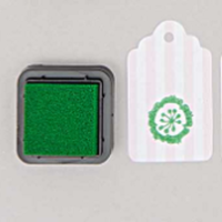 """DIY"" - Petit encreur vert pour tampon"