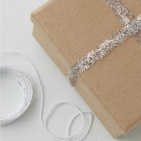 Kit de 2 ficelles de Noël argentées