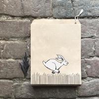 """""""Kraft"""" - 10 sachets papier avec un lièvre"""