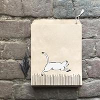 """""""Kraft"""" - 10 sachets papier avec un chat"""