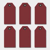 """""""Rouge"""" - 6 très grandes étiquettes épaisses"""