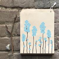 """""""Kraft"""" - 10 sachets papier avec des fleurs bleues"""