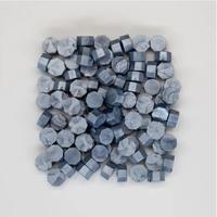 """""""Brillant"""" - 100 granulés de cire bleu gris pour sceau"""
