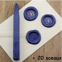 """""""Luxe"""" - Bâton de cire bleu métallique"""