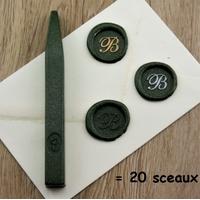 """""""Luxe"""" - Bâton de cire vert métallique"""