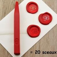 """""""Luxe"""" - Bâton de cire rouge de grande qualité"""