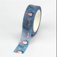 """Polaire"" - Masking tape pingouins de Noël"