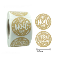 """""""Kraft"""" - 6 stickers de Noël"""
