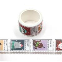 """""""Mail"""" - 3m de stickers en forme de timbres de Noël"""