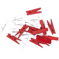 """""""Avent"""" - 24 pinces rouges et blanches"""