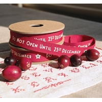 """Noël"" - 1m de ruban rouge"