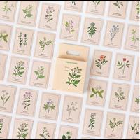 """""""Botanique"""" - 46 petits autocollants avec des fleurs"""