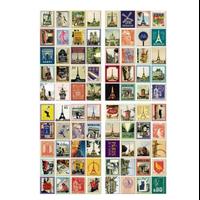 """""""France"""" - 80 faux timbres autocollants"""
