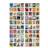 """""""Angleterre"""" - 80 faux timbres autocollants"""