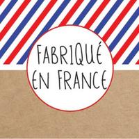 """""""Kraft"""" - 50 autocollants """"Fabriqué en France"""""""