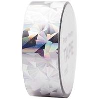 """""""Cristal"""" - Ruban adhésif holographique argent"""