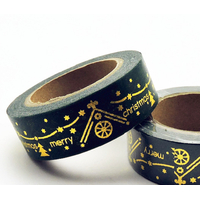 """Gloria"" - Masking tape Noël doré"
