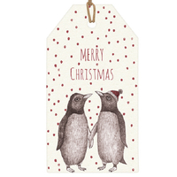 """""""Pingouin"""" - 6 grandes étiquettes épaisses"""