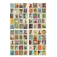 """Italie"" - 80 faux timbres autocollants"