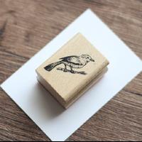 """""""Wood"""" - Joli tampon avec un oiseau"""