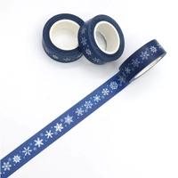 """Noël"" - Masking tape flocons de neige {2}"