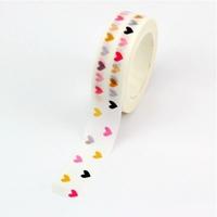"""Love"" - Masking tape pastel avec des coeurs"