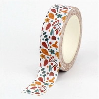 """Brown"" - Masking tape avec des fleurs"