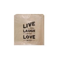 """Live laugh love"" - 45 sachets kraft"