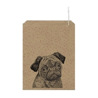 """Bouledogue"" - 10 grands sachets kraft"