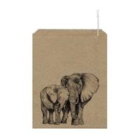 """Elephant"" - 10 grands sachets kraft"
