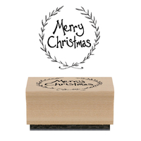 """Joyeux Noel"" - Tampon bois"