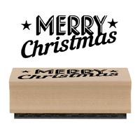"""""""Merry Christmas"""" - Tampon bois"""