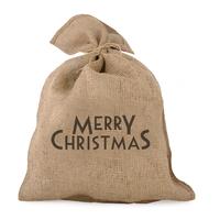 """Merry Christmas"" - Grand sac en jute"