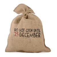 """Papa Noël"" - Grand sac en jute vintage"