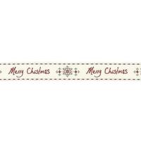 """Merry Christmas"" - 1m de joli ruban"