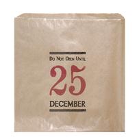 """Ne pas ouvrir avant Noël"" - 45 sachets kraft"