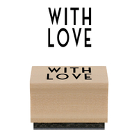 """""""With love"""" - Tampon bois"""