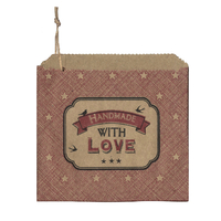 """Handmade with love"" - 45 sachets kraft"