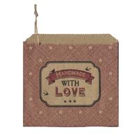 """Handmade with love"" - 45 sachets kraft"