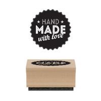 """Handmade with love"" - Tampon bois"