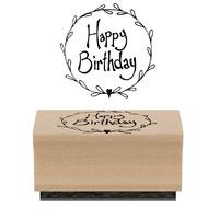 """""""Joyeux anniversaire"""" - Tampon bois"""