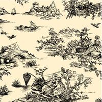 """""""Toile de Jouy"""" - 5 feuilles de joli papier de soie"""