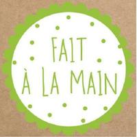 """""""Fait à la main"""" - 6 stickers carrés"""