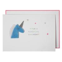 """Birthday"" - Carte d'anniversaire avec une licorne"