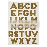"""""""Alphabet"""" - 10 planches de lettres dorées et paillettes"""