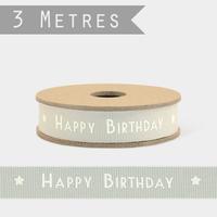 """""""Joyeux anniversaire"""" - 3m de ruban fantaisie"""